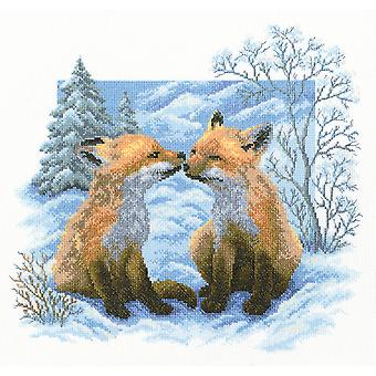 Fox Cubs Counted Cross Stitch Kit-13.75