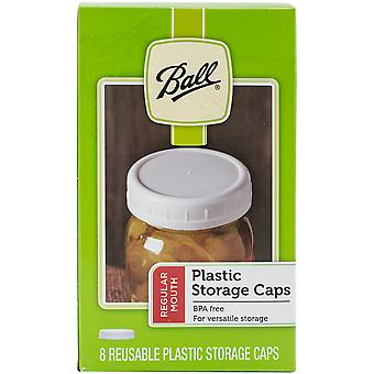 Ball Plastic Storage Caps 8/Pkg-Wide Mouth 37010
