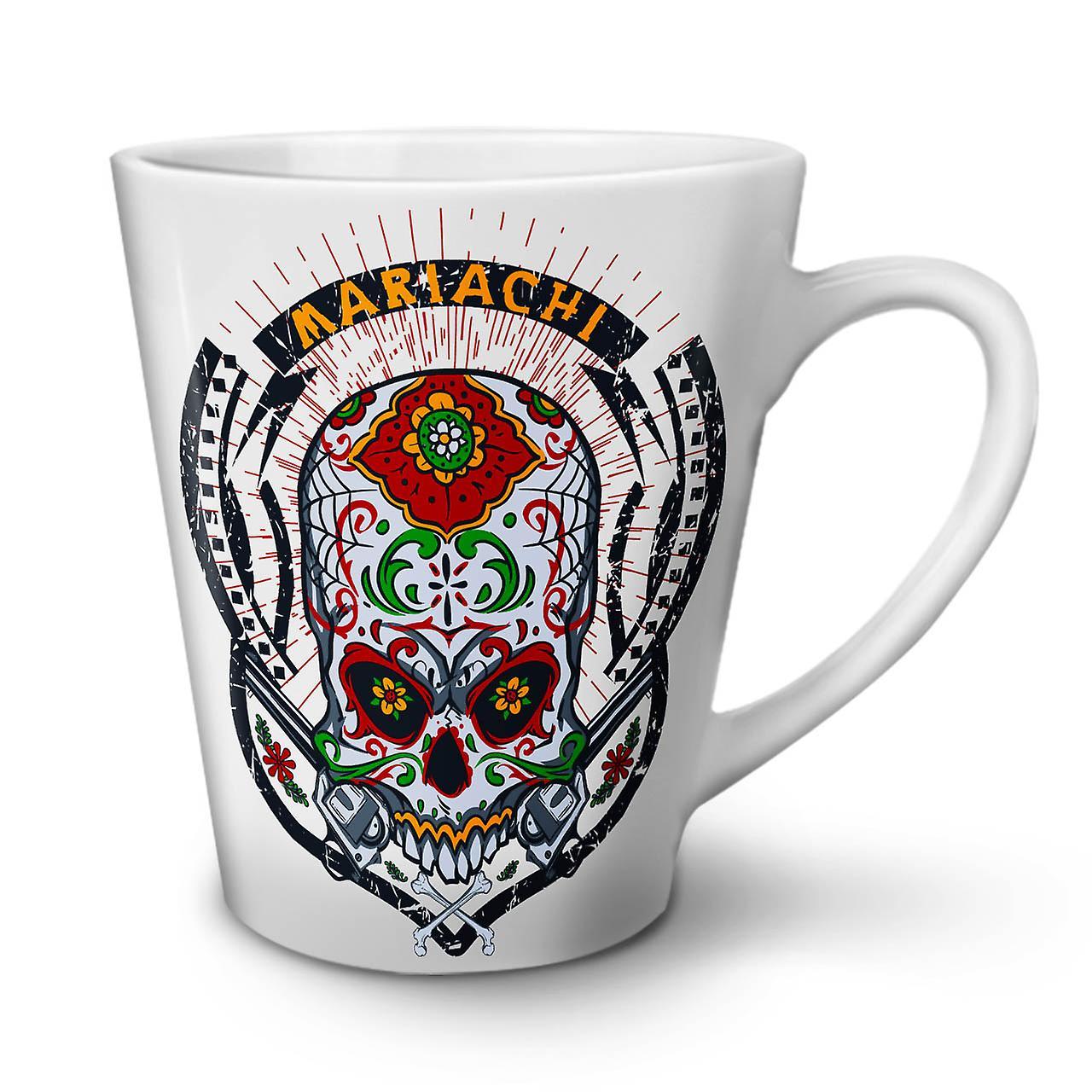 Skull New Coffee Tea OzWellcoda Ceramic Latte White 12 Mug Face Head oerCxBd