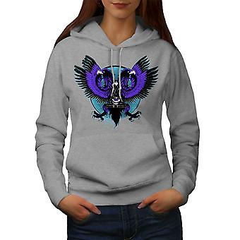 Eagle Triangle Women GreyHoodie | Wellcoda