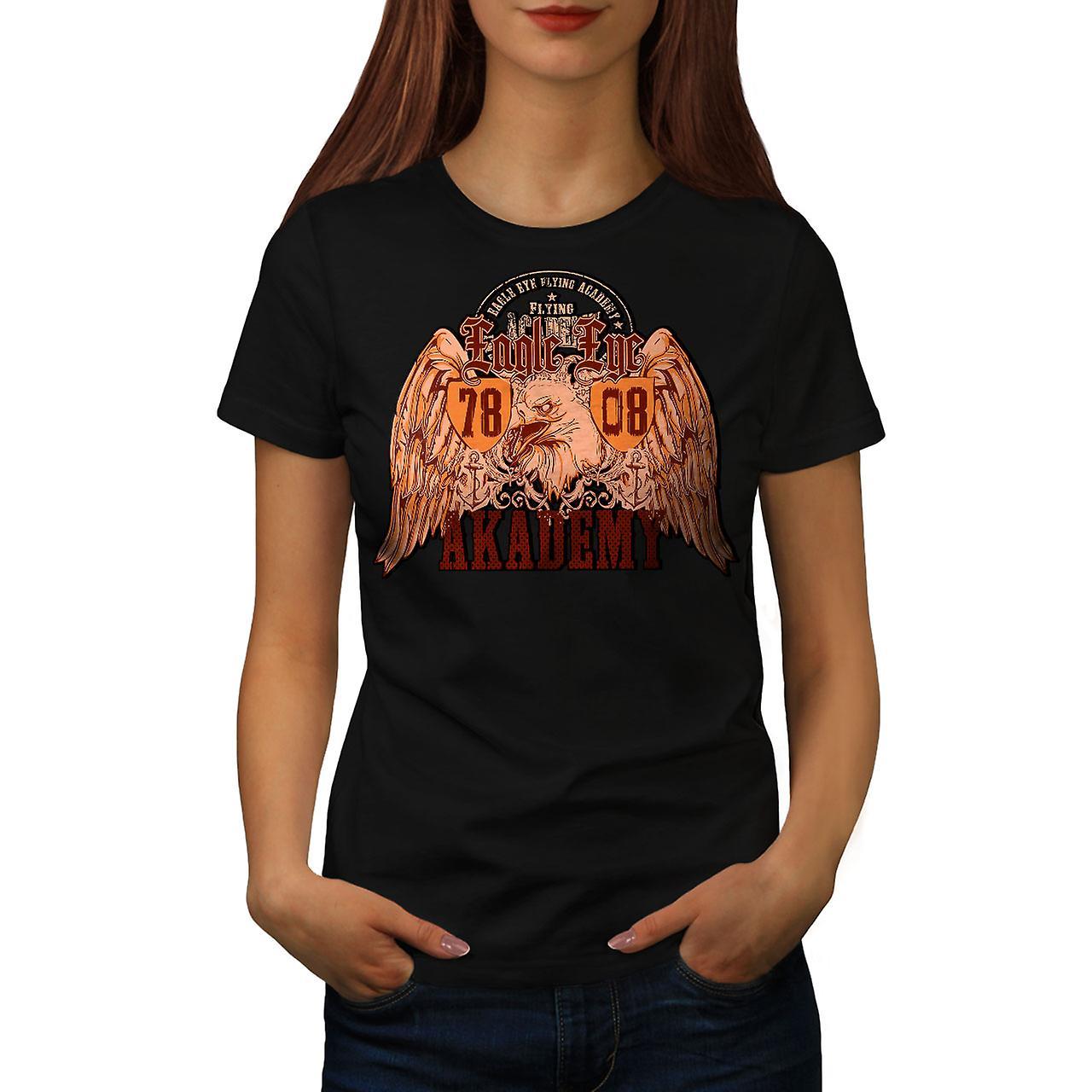 Eagle Eye Academy Vintage Women Black T-shirt | Wellcoda
