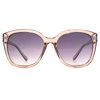 M:UK Highbury Glamorous Rectangle Sunglasses In Crystal Mink