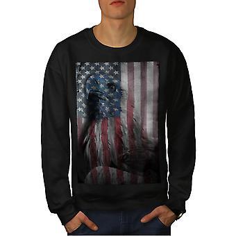 American Eagle herlighed mænd BlackSweatshirt | Wellcoda