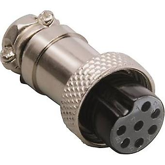 Mini DIN connector Connector, straight Number of pins: 4 Silver BKL Electronic 0206007 1 pc(s)