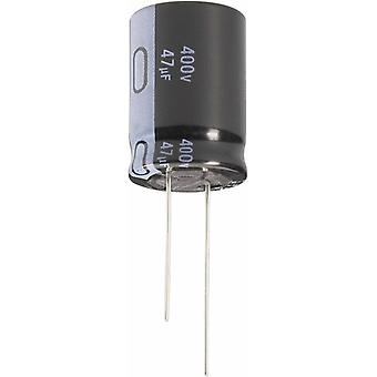 Electrolytic capacitor Radial lead 5 mm 22 µF 250