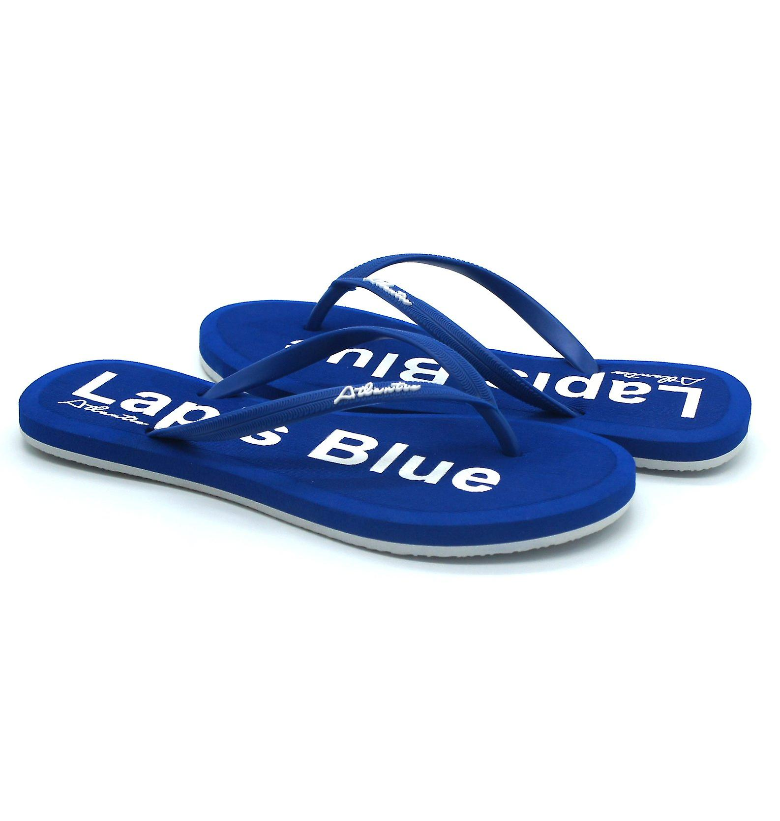 Atlantis Shoes Women Supportive Cushioned Comfortable Sandals Flip Flops Simply Colorful Lapis Blue