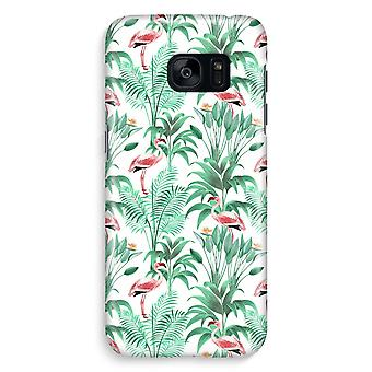 Samsung S7 Edge Full Print Case - Flamingo leaves