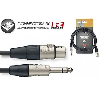 Stagg 3m/10ft Audio Stereo Plug XLR