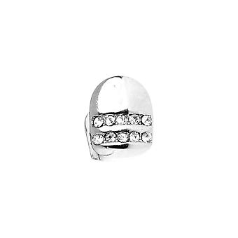 Bling 10x8mm Grill - one size fits all silver tooth attachment