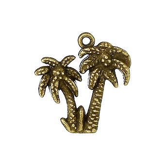 10 x Steampunk Antique Bronze Tibetan 21mm Palm Tree Charm/Pendant ZX12720