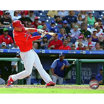 Rhys Hoskins 2017 Action Photo Print