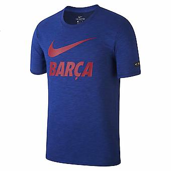 2018-2019 Barcelona Nike Dry Pre Season Tee (Blue)