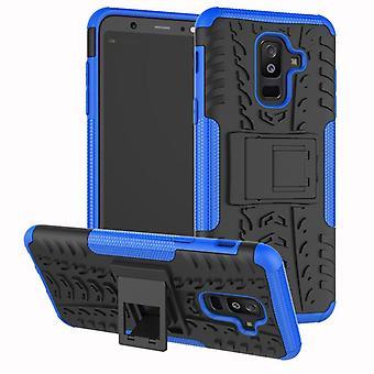 Voor Samsung Galaxy A6 A600 2018 hybrid case stuk 2 SWL outdoor Blau tas gevaldekking van bescherming