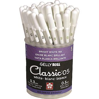 Gelly Roll Classic Fine Point Pens Cup 36/Pkg-White