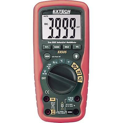 Extech EX505 Handheld multimeter Digital Calibrated to  Manufacturers standards (no certificate) Waterproof (IP67) CAT III 1000 V, CAT IV 600 V Display