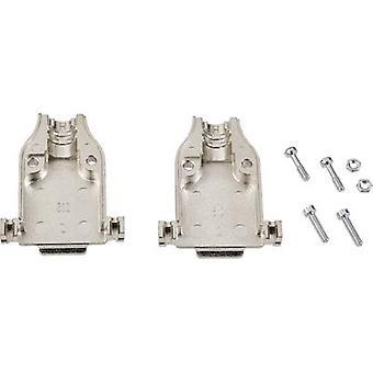 Vivienda número de pins D-SUB: 9 Metal 180 ° plata TE conectividad AMPLIMITE HD-20 (HDP-20) 1 PC