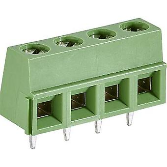 TE Connectivity 282836-4 Screw terminal 1.31 mm² Number of pins 4 Green 1 pc(s)