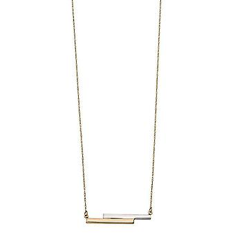 Elements Gold Double Bar Necklace - Gold/Silver
