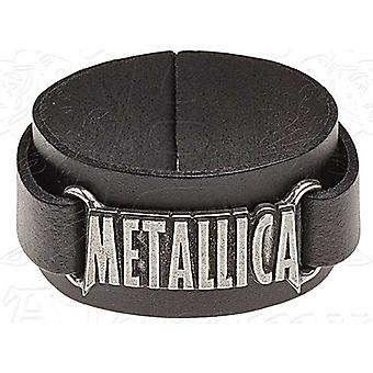 Metallica-Logo aus Leder Wriststrap