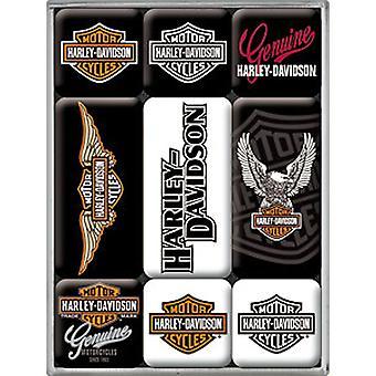Harley Davidson логотипы набор из 9 мини-холодильник магниты