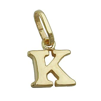 small and delicate letter pendant gold 375 followers, letter K, 9 KT GOLD