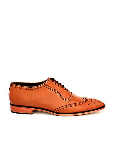 Handcrafted Leather Premium Leather Handcrafted Blythe Brown Oxford Shoe 0e7bac