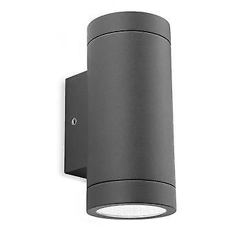 Firstlight Modern Graphite LED Up Down Outdoor Wall Downlight