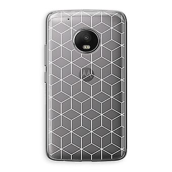 Motorola Moto G5 Transparent Case (Soft) - Cubes black and white