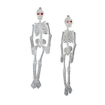 2 x 20cm noctilucent skeletons horror Goth accessory Carnival Halloween EMO