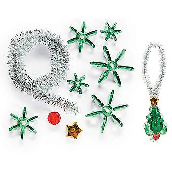 12 Bead Christmas Tree Decorations Crafts for Kids Groups