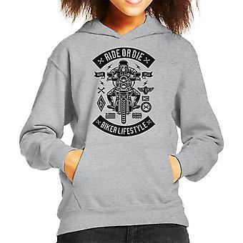 Ride Or Die Biker Lifestyle Kid's Hooded Sweatshirt