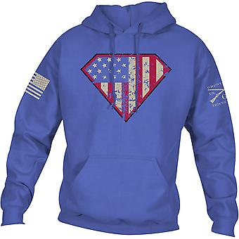 Grunt Style Super Patriot Pullover Hoodie - Blue