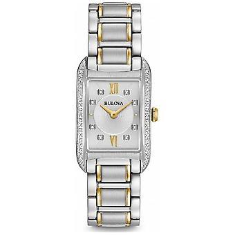 Bulova Women's Silver Diamond Set Quartz 98R227 horloge