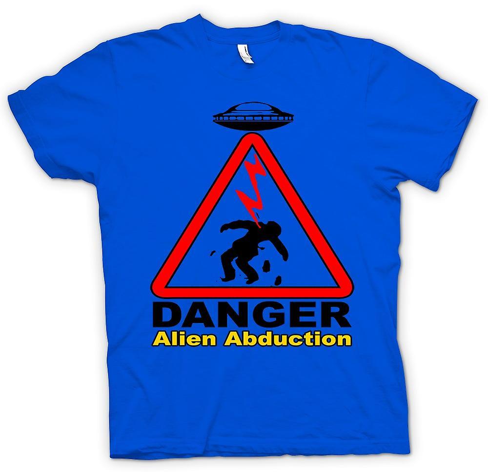 Hommes T-shirt - Danger Alien Abduction - OVNI - Drôle