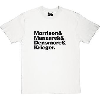 The Doors Line-Up Men's T-Shirt