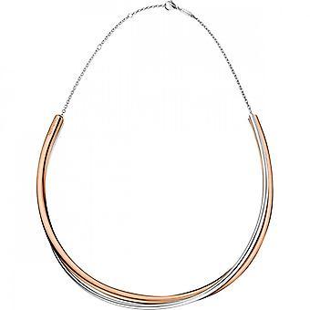 Calvin Klein Double Rose Gold PVD Stainless Steel Choker Necklace KJ8XPJ200100