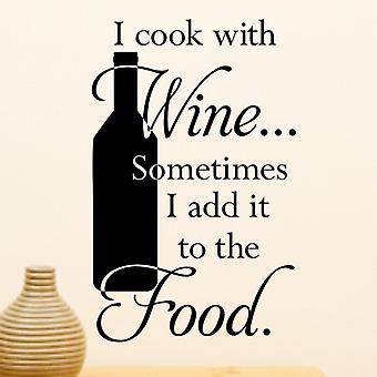 Wine wall quote sticker