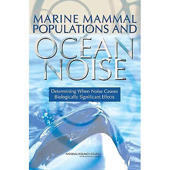 Marine pattedyr befolkninger og havet støy: bestemme når støy fører biologisk signifikante effekter