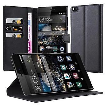 Cadorabo-kotelo Huawei P8 MAX-Puhelin kotelo magneettisella Sulkemilla, stand-toiminnolla ja kortti kotelon lokerolla-kotelo suoja kotelo kotelo tapa uksessa kirja taitto tyyli