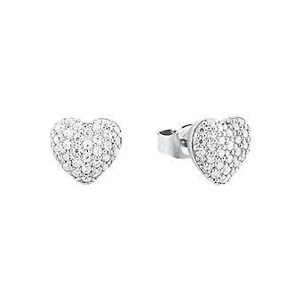 s.Oliver jewel ladies earrings silver heart cubic zirconia 2024211
