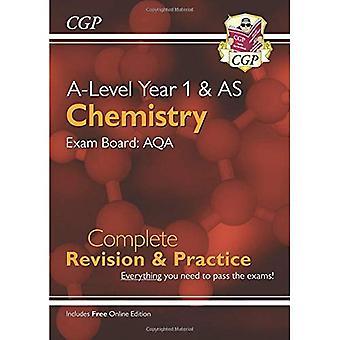 Nya A-nivå kemi för 2018: AQA år 1 & som slutföra Revision & praxis med Online Edition