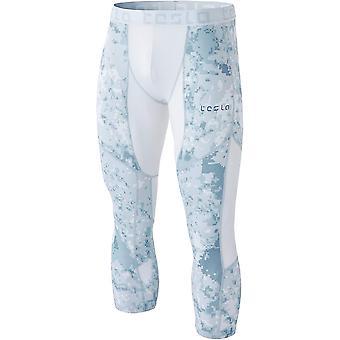 TSLA Tesla MUC78 cool dry 3/4-comprimento calças de compressão-pixel camo/cinza claro