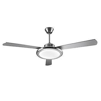 Bahia cetim níquel LED iluminado ventilador de teto - 30 Leds-C4-5676-81-M1