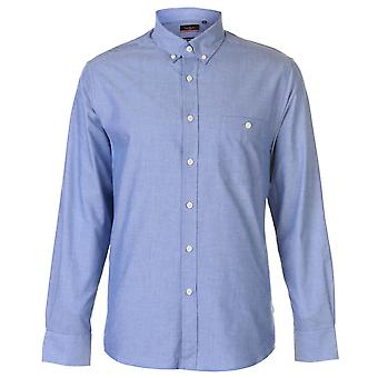Pierre Cardin Mens Oxford lungo manica camicia Casual Top Button Regular