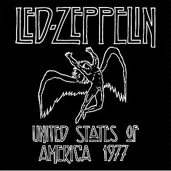 Led Zeppelin 1977 USA Tour stål kylskåpsmagnet (ro)