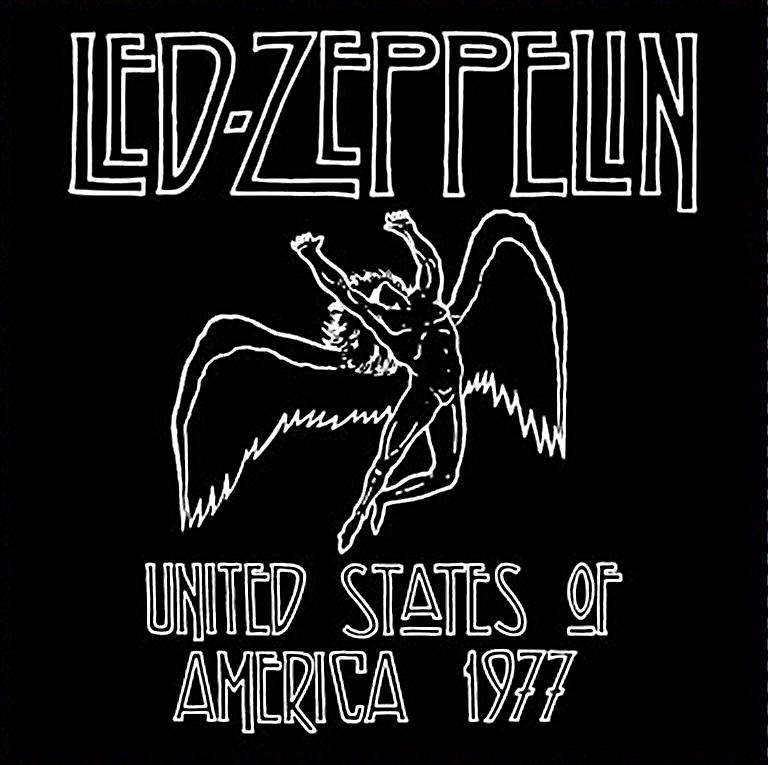 Led Zeppelin 1977 USA Tour steel fridge magnet       (ro)