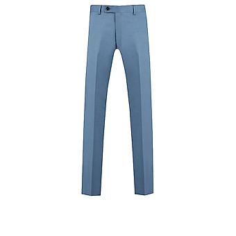 Dobell Mens Light Blue Suit Trousers Regular Fit