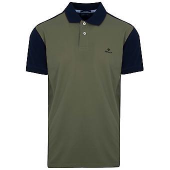 Gant GANT Flechten grünen Kontrast Polo-Shirt