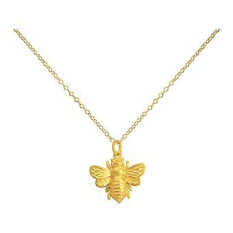 Gemshine - damer - kjede - anheng - 925 sølv - gull belagt - BEE - bee - 45 cm
