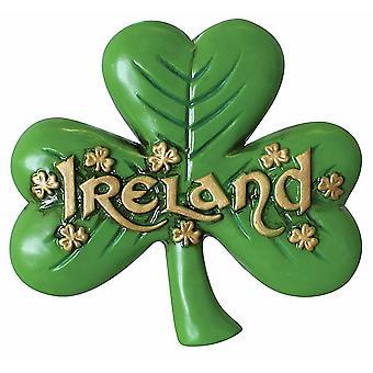 Ireland Shamrock Shaped Ceramic Magnet (sg)